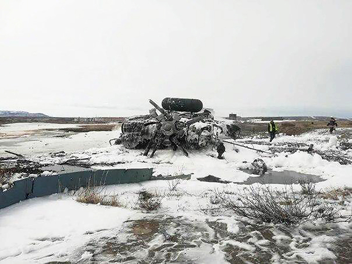 Four people killed in MI-8 military helicopter crash at Chukotka