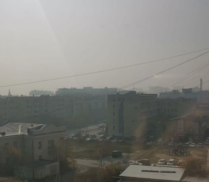 Russia's coldest city suffocates under a thick blanket of smog from September wildfires